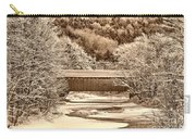 Bridge In Sepia Carry-all Pouch