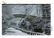 Bridge In Snow Carry-all Pouch