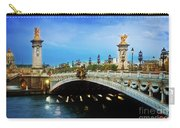 Bridge Of Alexandre IIi At Night Carry-all Pouch