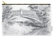 Bridge Over The River White Cart Carry-all Pouch