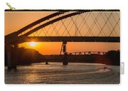 Bridge Sunrise And Boater Carry-all Pouch