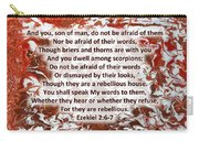 Briers And Thorns With Scripture Carry-all Pouch