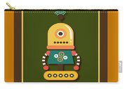 Bright And Colorful Robot Toy Carry-all Pouch