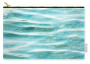 Bright Aqua Water Ripples Carry-all Pouch