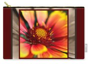 Bright Blanket Flower With Design Carry-all Pouch