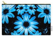 Bright Blue Daisies Carry-all Pouch