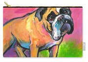 Bright Bulldog Portrait Painting  Carry-all Pouch
