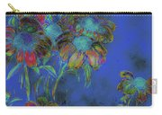 Bright Daisies In Blue Carry-all Pouch