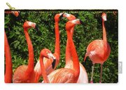 Bright Flamingos Carry-all Pouch