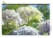 Bright Floral Art Pastel Blue Purple Hydrangeas Flowers Baslee Troutman Carry-all Pouch