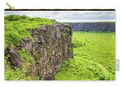 Bright Green Asbyrgi Canyon In Iceland Carry-all Pouch