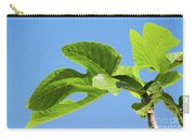 Bright Green Fig Leaf Against The Sky Carry-all Pouch