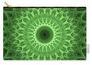Bright Green Mandala Carry-all Pouch