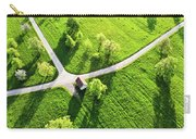 Bright Green Spring Meadow Aerial Photo Carry-all Pouch