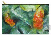 Bright Orange Blooms On A Plant Carry-all Pouch
