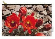 Bright Orange Cactus Blossoms Carry-all Pouch