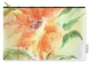 Bright Orange Flower Carry-all Pouch