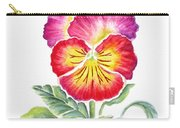 Bright Pansy Carry-all Pouch