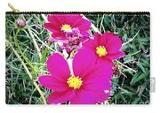 Bright Pink Flowers Carry-all Pouch