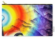 Bright Rainbow And Mountains. Cyborg's Land Carry-all Pouch