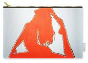 Scarlet Nude Yoga Girl Carry-all Pouch