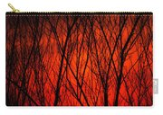 Bright Red Sunset Carry-all Pouch