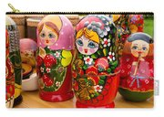 Bright Russian Matrushka Puzzle Dolls Carry-all Pouch