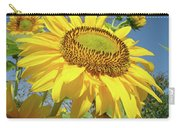 Bright Sunny Happy Yellow Sunflower 10 Sun Flowers Art Prints Baslee Troutman Carry-all Pouch