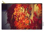 Bright Sunny Red Autumn Plants Carry-all Pouch