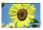 Bright Yellow Sunflower Art Prints Blue Sky Baslee Troutman Carry-all Pouch