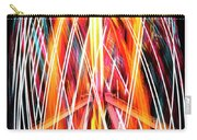 Brightly Colored Abstract Light Painting At Night From The Fireb Carry-all Pouch