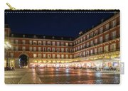 Brightly Lit Midnight - Plaza Mayor In Madrid Spain Carry-all Pouch