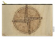 Brigid's Cross Blessing Woodburned Plaque Carry-all Pouch