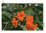 Brilliant Orange Tropical Flower Carry-all Pouch