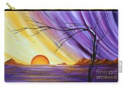 Brilliant Purple Golden Yellow Huge Abstract Surreal Tree Ocean Painting Royal Sunset By Madart Carry-all Pouch