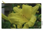 Brilliant Yellow Daylilies Flowering In A Garden Carry-all Pouch