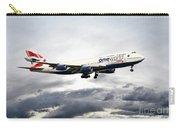 British Airways 747 G-civi Carry-all Pouch