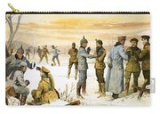British And German Soldiers Hold A Christmas Truce During The Great War Carry-all Pouch