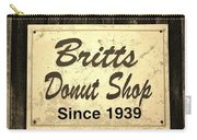 Britt's Donut Shop Sign 3 Carry-all Pouch