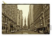 Broad Street Facing Philadelphia City Hall In Sepia Carry-all Pouch
