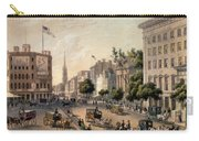 Broadway In The Nineteenth Century Carry-all Pouch by Augustus Kollner