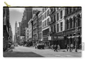 Broadway, New York In Black And White Carry-all Pouch