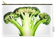 Broccoli Cutaway On White Carry-all Pouch