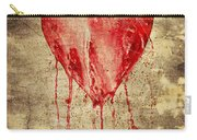 Broken And Bleeding Heart On The Wall Carry-all Pouch