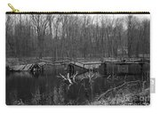 Broken Bridges In Black And White Carry-all Pouch