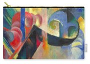 Broken Forms By Franz Marc Modern Bright Colored Painting  Carry-all Pouch