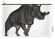 Brontotherium Isolated On White Carry-all Pouch