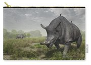 Brontotherium Wander The Lush Late Carry-all Pouch by Walter Myers