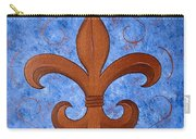 Bronze Fleur De Lis Carry-all Pouch