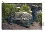 Bronze Turtle Dragon Sculpture Carry-all Pouch